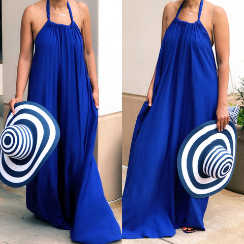Royalty Halter Maxi Dress