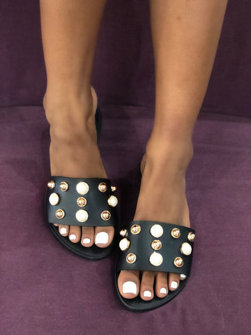 Studded View Slides - FINAL SALE