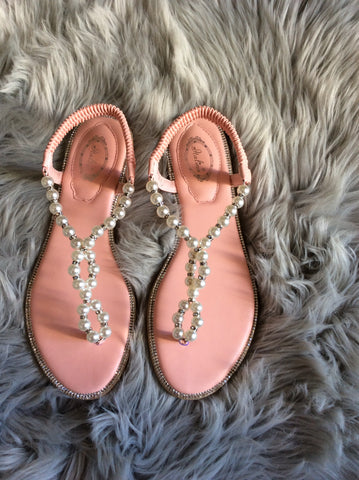 Pinky Pearl Sandals