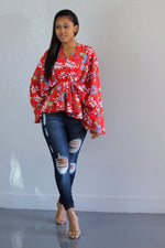 Disco Floral Blouse