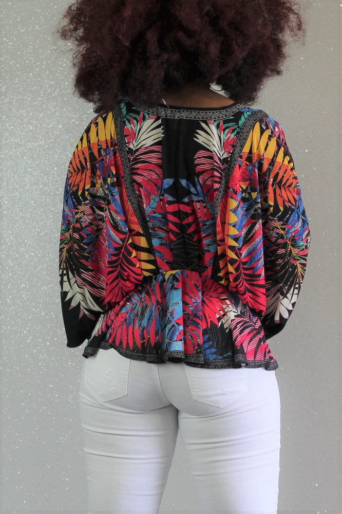 Black Roses Blouse