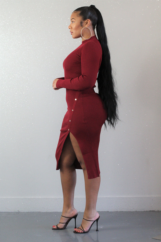 Brielle Burgundy Dress