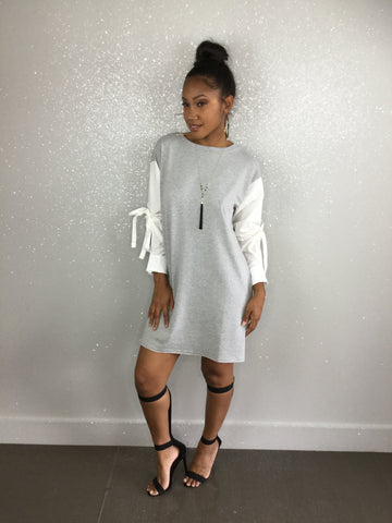 Grayed Out Tunic Dress