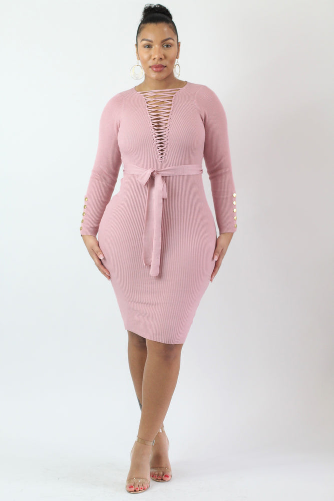Blush Bombshell Dress