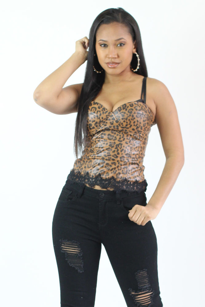 Lovely Leopard Corset Set