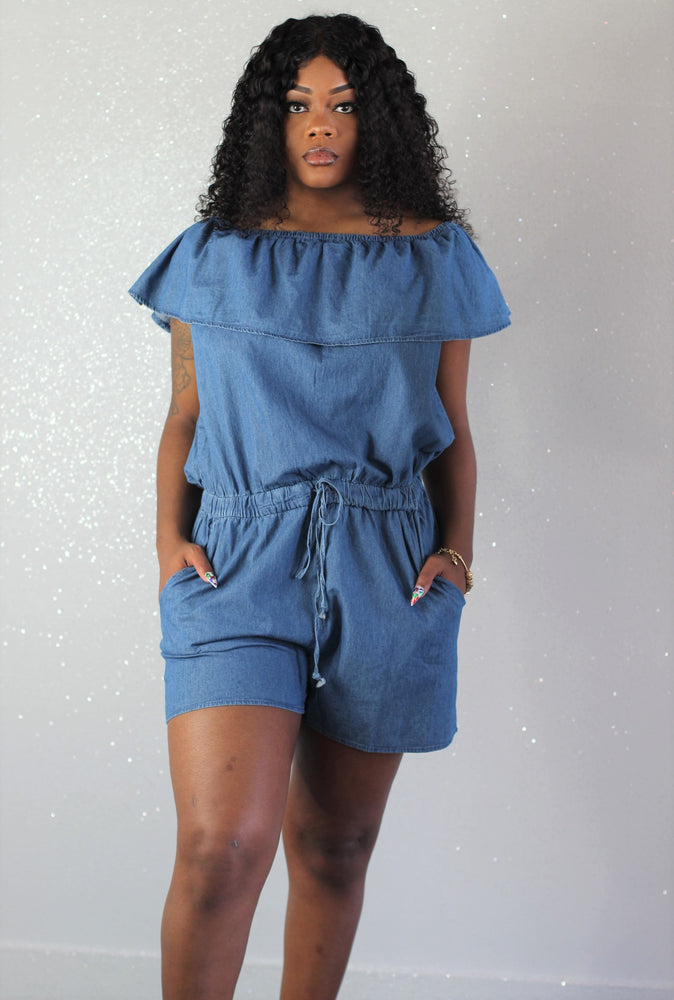 Elle Denim Romper