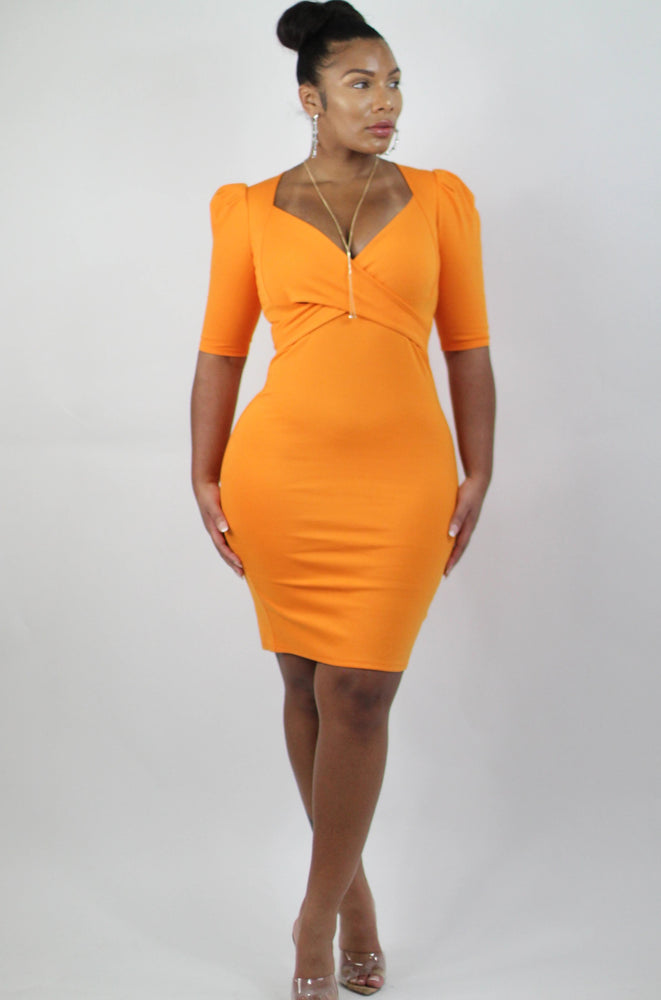 Up in Flames Orange Dress