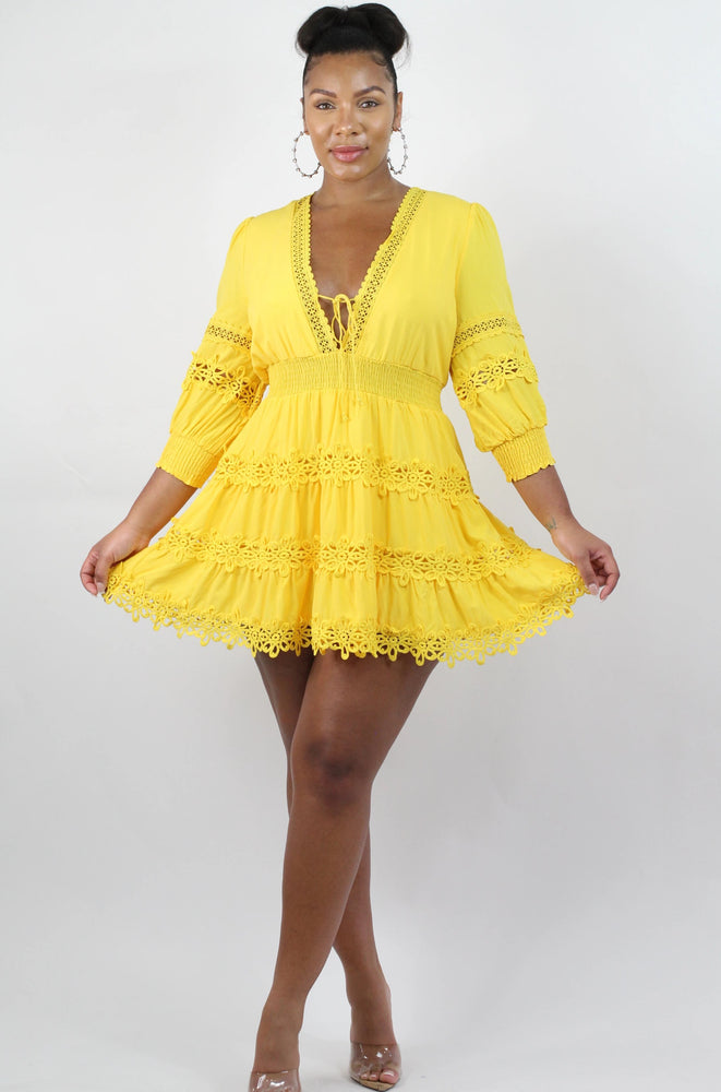 Yellow Daisies Tunic Dress
