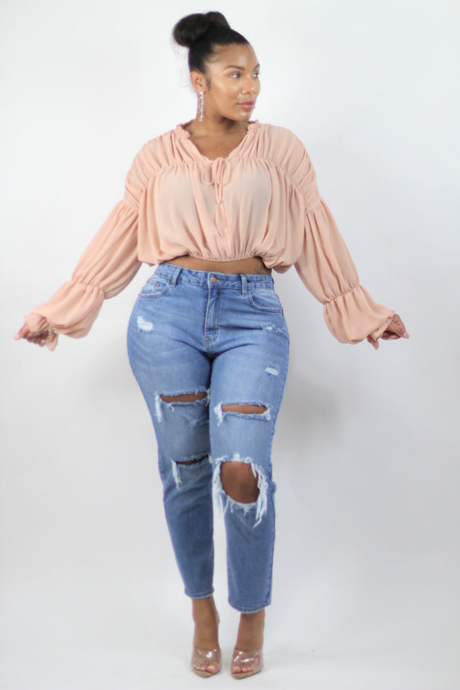 Peach Drop Blouse