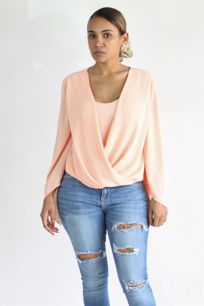 Angel Peach Blouse