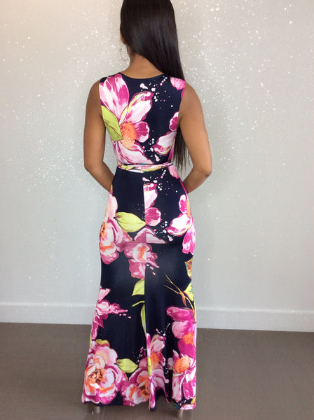 Derby Fitted Maxi Dress