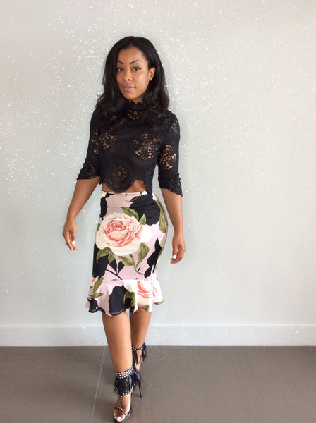 Ronnie  Floral Skirt