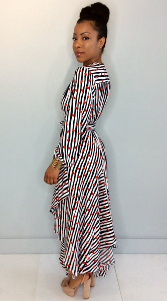 Lips On Me Wrap Dress