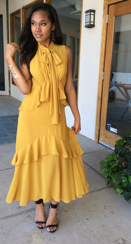 Lemon Ruffle Dress