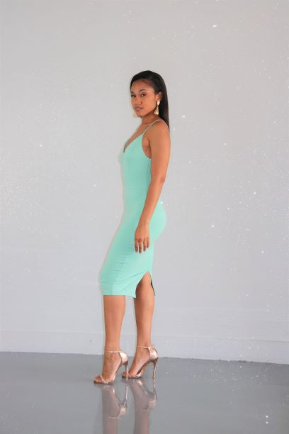 Mint To Your Chocolate Chip Dress