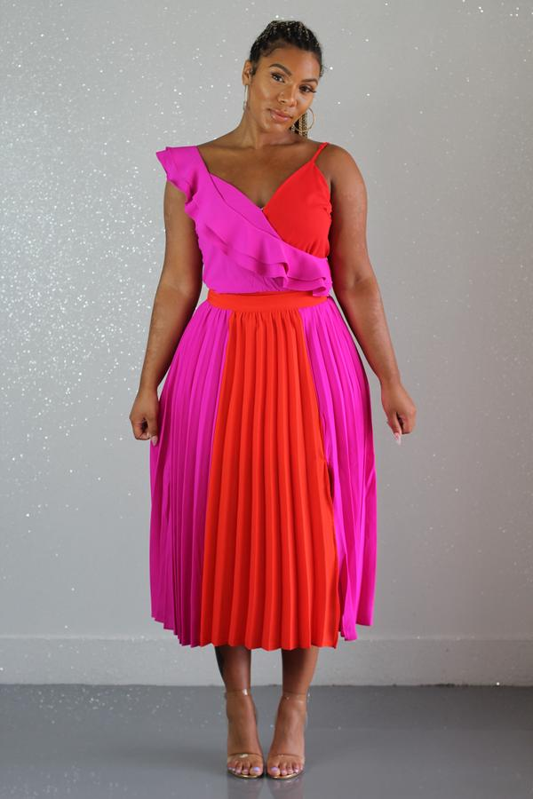 Missing Piece Pleated Skirt