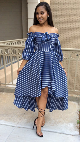 Columbiana Stripe Dress