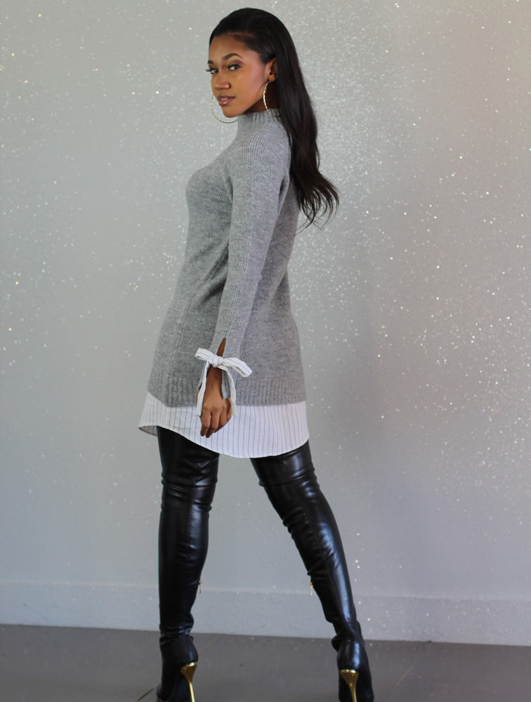Paper Cut Sweater Dress