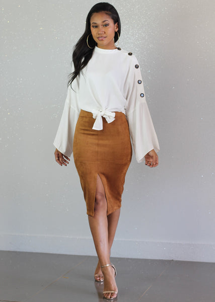 Winter White Blouse