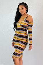 Switch Lanes Knitted Dress - FINAL SALE