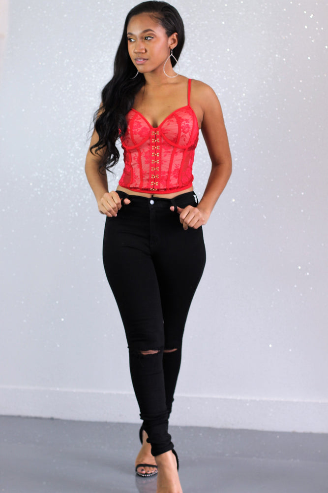 Go Gina Lace Top