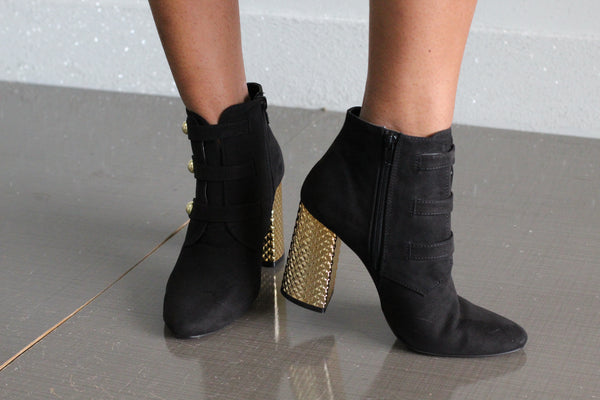 Gold Stack Booties