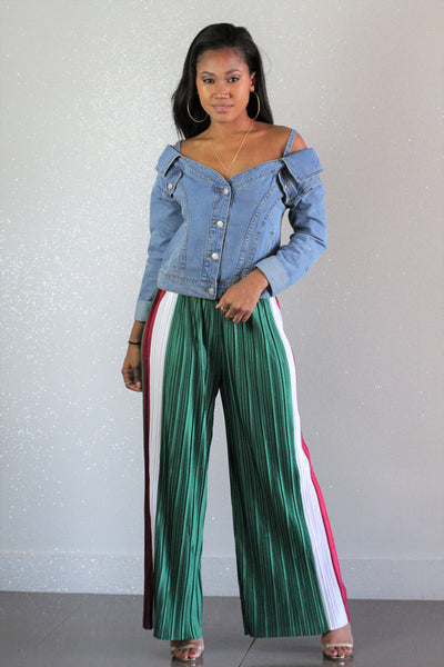 Evergreen Pleated Pants - FINAL SALE