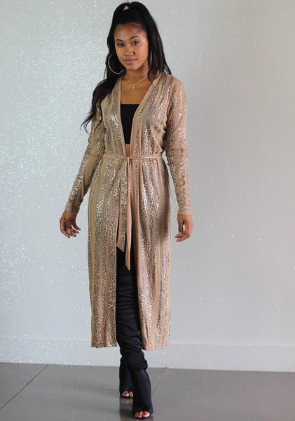 Cheetah Stripes Duster - FINAL SALE