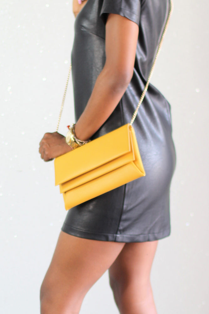 Double Stuff Yellow Purse