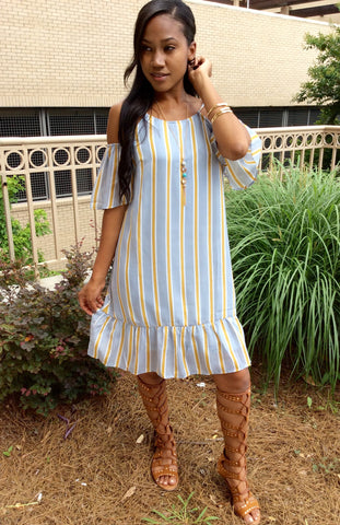 Lia Stripe Tunic Dress