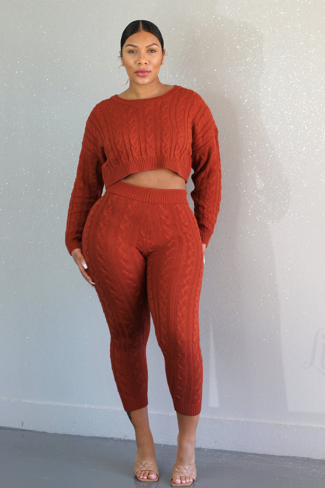 Rust By The Fire Pant Set