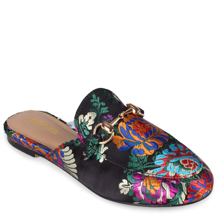 Mulan Embroidered Mules