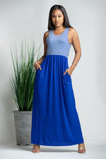 Blue Port Maxi Dress