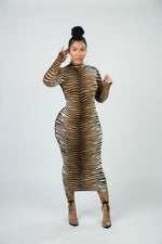 Tiger Stripes Midi Dress