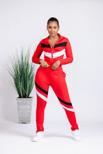 Victory Lap Track Suit - Red