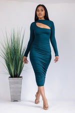 Teal We Meet Again Midi Dress