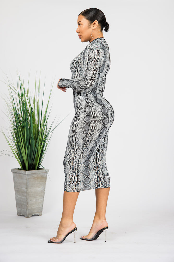 Python Dreams Midi Dress