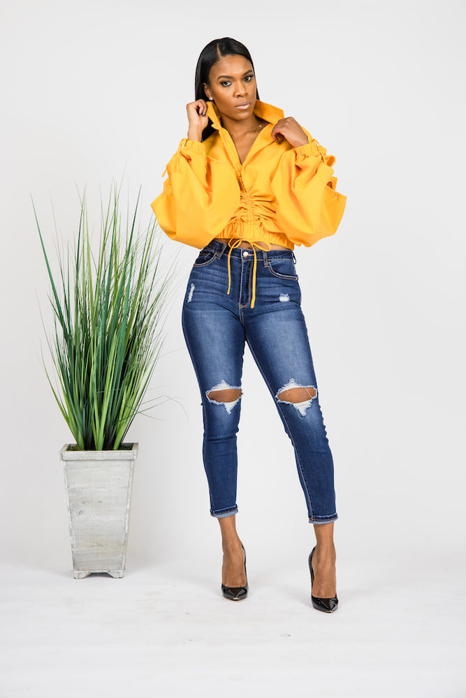 All The Drama Blouse - YELLOW