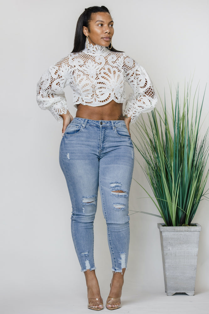 The White Detail Top