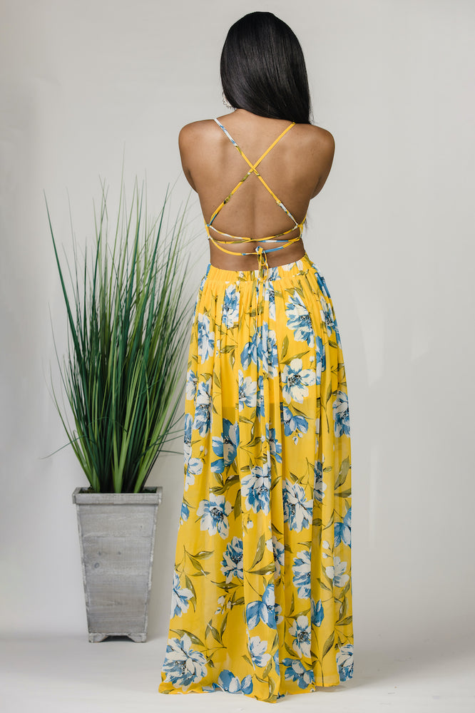 Yellow Lilly Maxi Dress