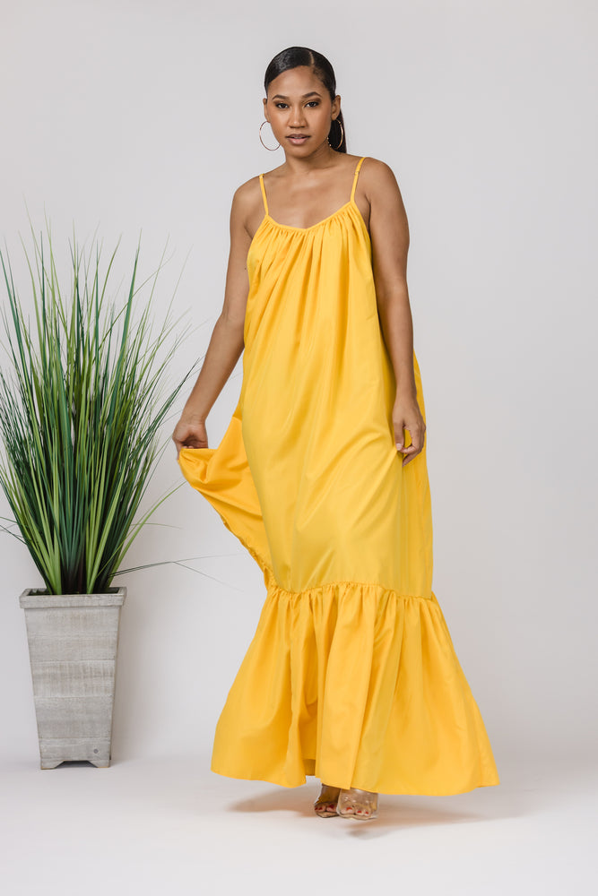 Papaya Maxi Dress