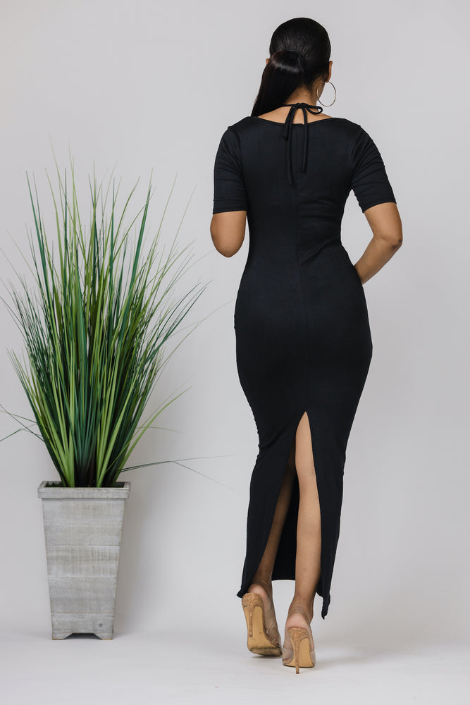 Dare To Bare Black Maxi Dress