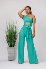 Teal Reveal Jumpsuit