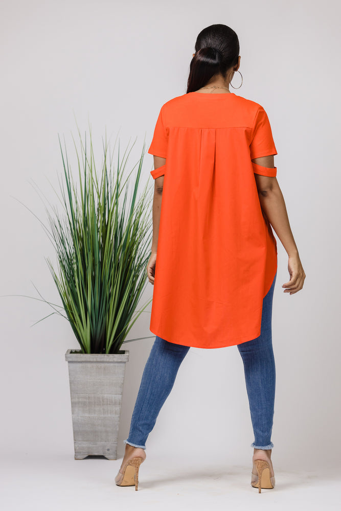 Orange Grove Tunic Top