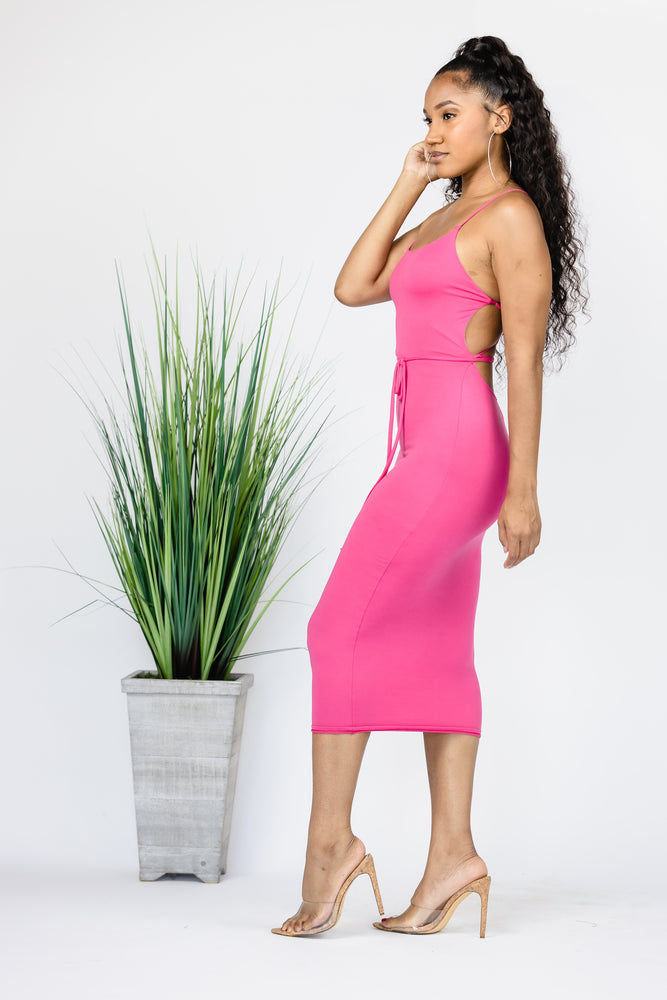 Pink Clove Midi Dress -Final Sale