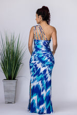 Splash of Teal Maxi Dress