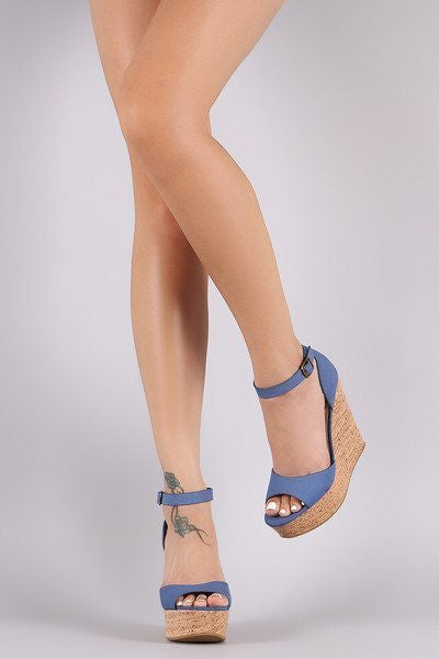 Denise Denim Wedges