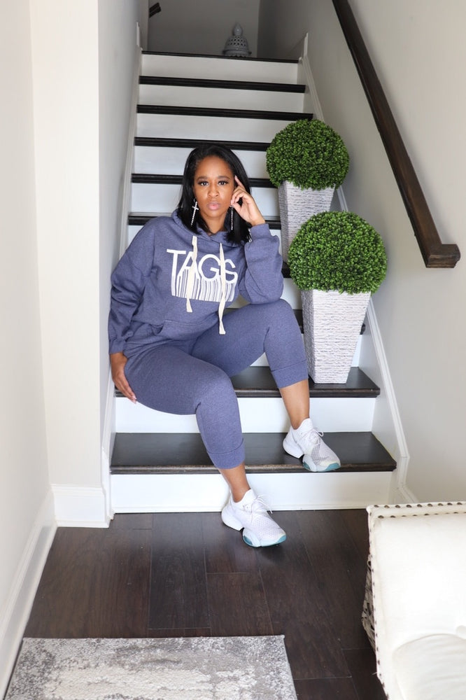 TAGS Hooded Jogger Set - Navy