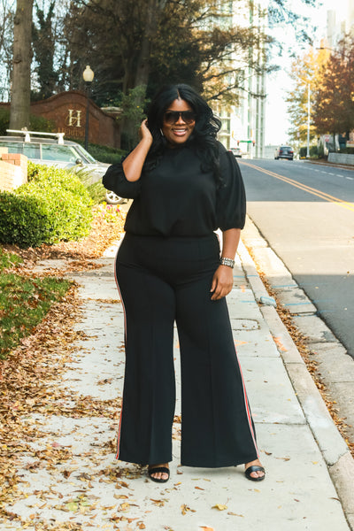In Between The Lines Curvy Pants - FINAL SALE