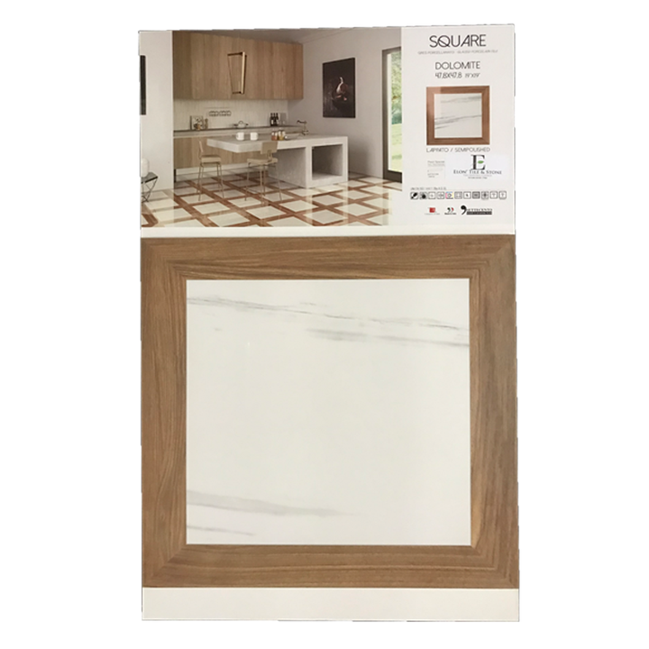 "Dolomite 19"" x 19"" Semi Polished Square Porcelain Board - Elon Tile"